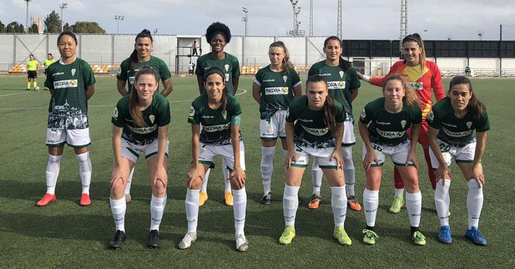 El once de Córdoba Femenino en Valencia