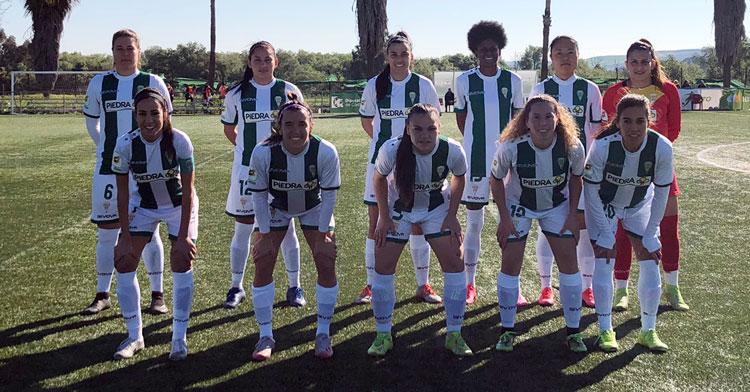El once del Córdoba CF Femenino ante el Femarguín. Foto: @CordobaFemenino