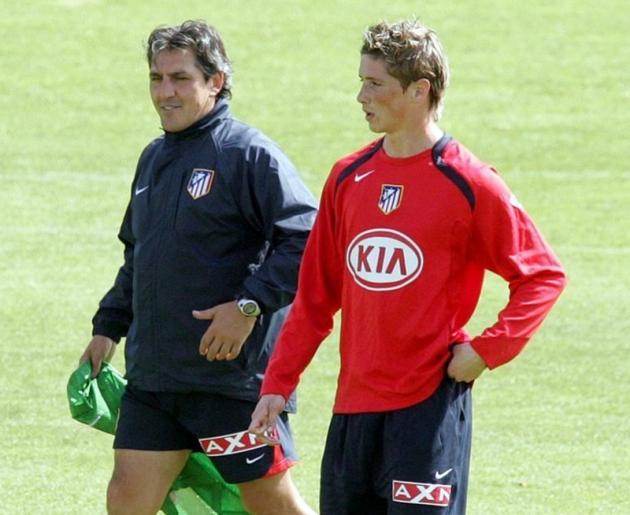 Pepe Murcia junto a Fernando Torres durante su etapa en el Atlético de Madrid.Pepe Murcia junto a Fernando Torres durante su etapa en el Atlético de Madrid.