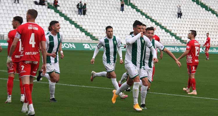 Willy celebrando el primero de sus goles ante el Real Murcia hace dos jornadas.