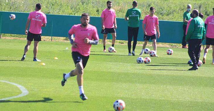 Xavi Molina este miércoles durante el entrenamiento en la Ciudad Deportiva.