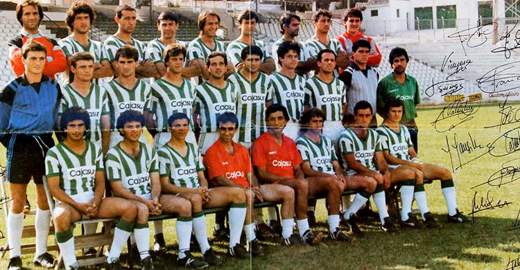 Un once de aquel Córdoba en Tercera con Juan Luna Eslava, Mariano Mansilla, Pepín, Valentín, Luna Toledano, Ricar, Coco y tantos otros cordobeses.