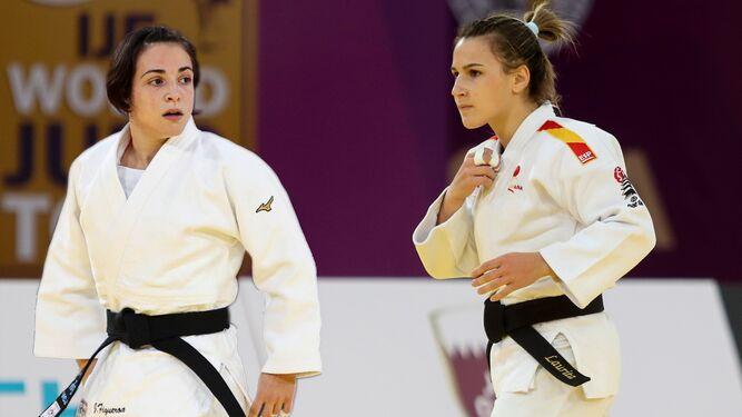 Julia Figueroa junto a Laura Martínez, su única rival por la plaza olímpica de los Juegos de Tokio.Julia Figueroa junto a Laura Martínez, su única rival por la plaza olímpica de los Juegos de Tokio.