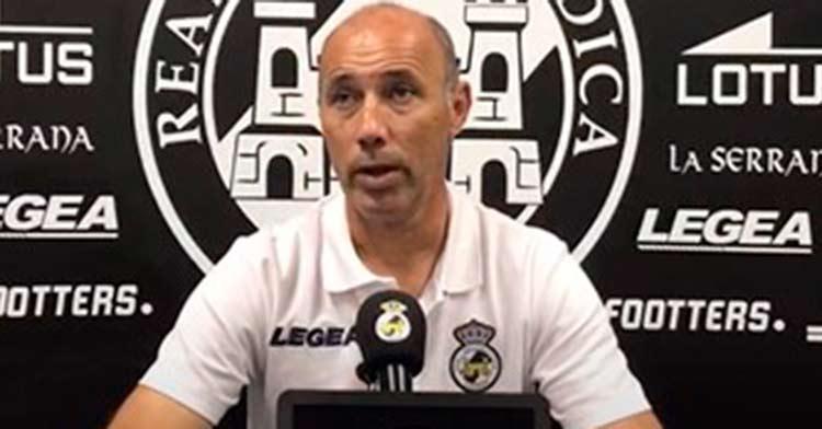 Antonio Calderón, en la rueda de prensa previa al partido ante el Córdoba CF.