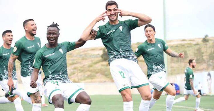 Bernardo celebrando su primer gol de la temporada.