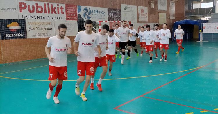 Los jugadores del Bujalance en el Pepe Montalbán. Foto: Bujalance FS