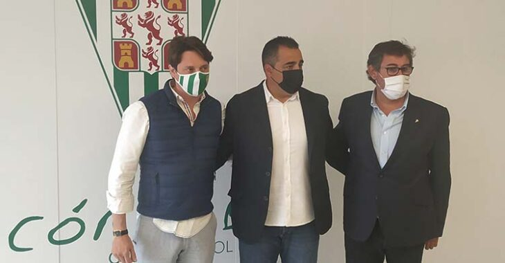 Javier González Calvo junto a Germán Crespo y Adrián Fernández.
