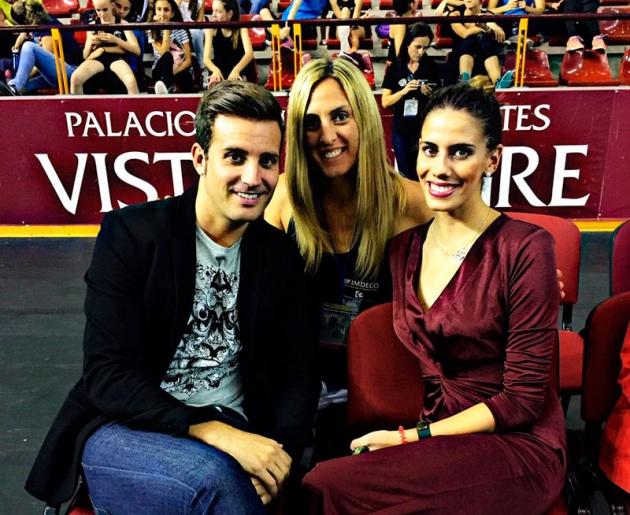 Lourdes Mohedano junto al diputado de deportes Martín Torralbo y una de sus entrenadoras de base.