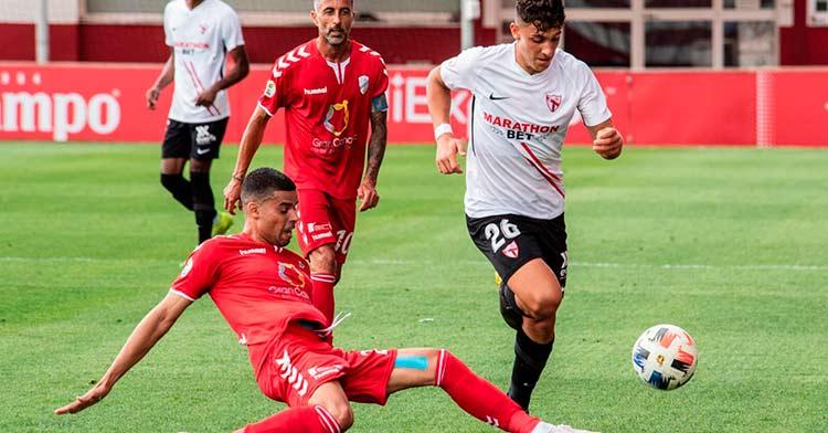 El Tamaraceite en su último partido a domicilio, ante el Sevilla Atlético (0-0).