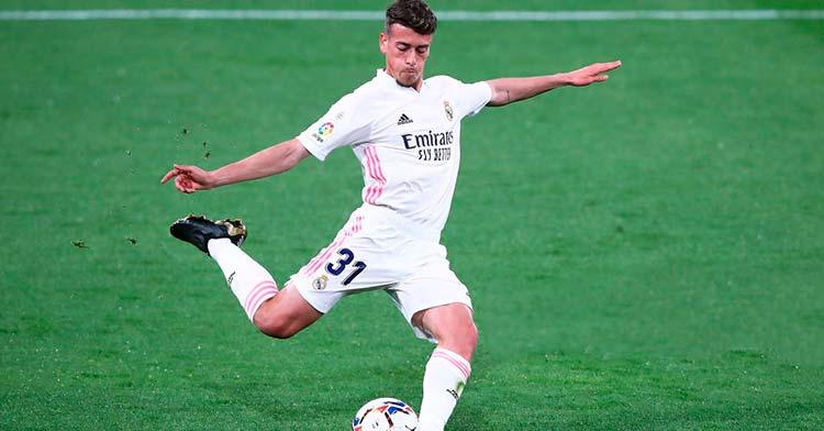 Antonio Blanco en su debut con el Real Madrid la pasada campaña.