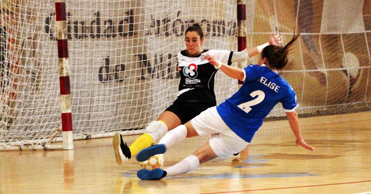 Ceci Moreno en un partido en Melilla esta temporada.