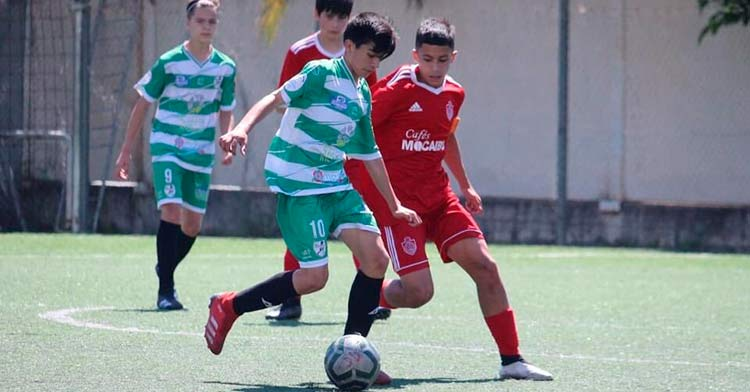 El Juanín y Diego Infantil A en uno de sus partidos. Foto: Juanín y Diego.
