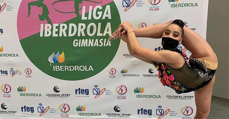 La gimnasta Noa Ámber Álvarez. Foto: Club GR Séneca.