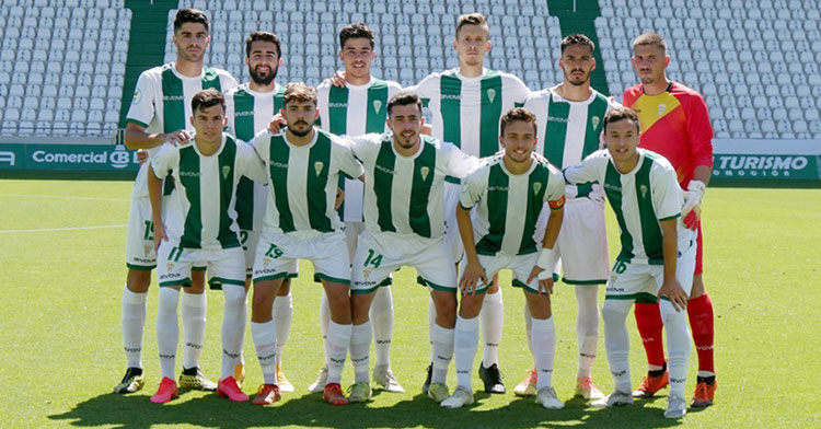 El último once del Córdoba B esta temporada, ante Los Barrios. Foto: CCF