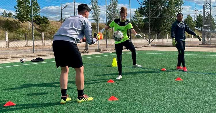 Una imagen de los entrenamientos de esta semana. Foto: CD Pozoalbense