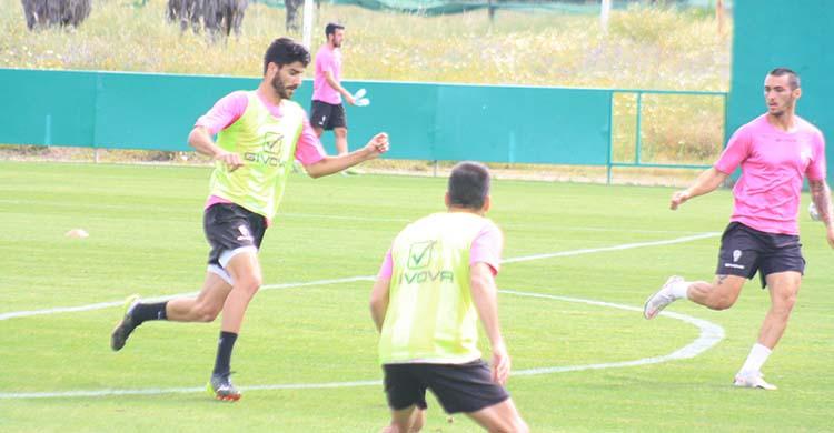 Visus en uno de sus últimos entrenamientos con el primer equipo del Córdoba.