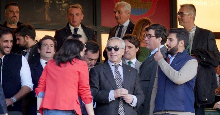 Los representantes de Baréin en su ya lejana en el tiempo visita a El Arcángel. Foto: CCF
