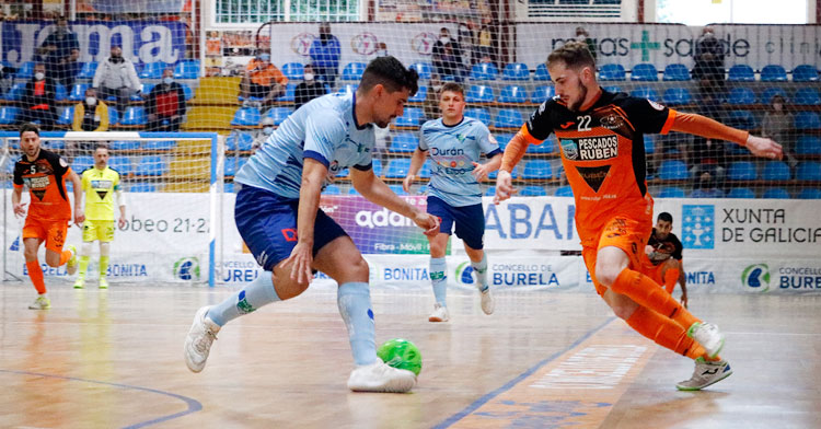 Burela superó el play-out ante El Ejido. Foto: Burela FS