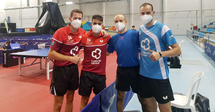 Los jugadores del Cajasur Priego tras vencer su primer partido copero