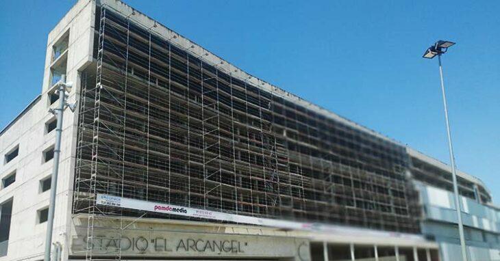 La imagen actual de la fachada de la Preferencia de El Arcángel.