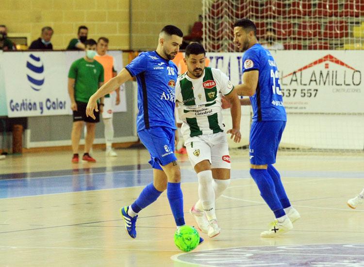 Jesús Rodríguez en el encuentro frente al Valdepeñas. Foto: Córdoba Futsal