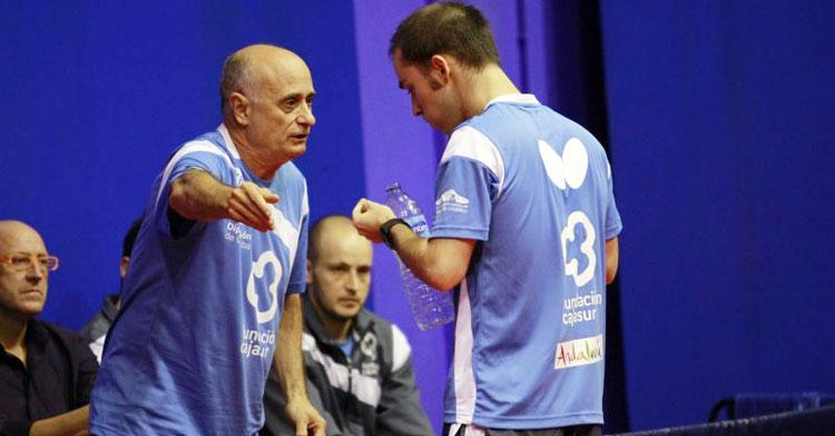 Luis Calvo en un partido de liga
