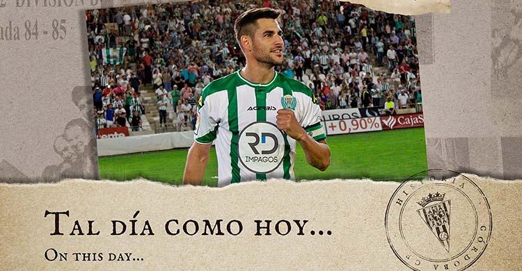 Luso en el recuerdo del empate ante el Almería en la jornada final de la temporada 2015-16 que permitía jugar el play off de ascenso a Primera.