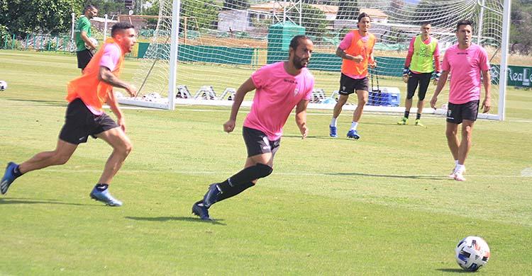 Mario Ortiz en uno de los últimos entrenamientos en la Ciudad Deportiva.