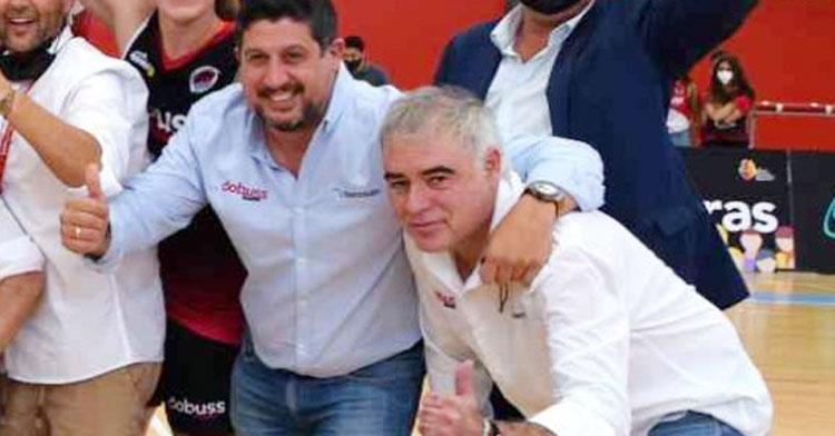 Miguel Ángel Luque junto al presidente Sebastián del Rey. Foto: Laclasi.es