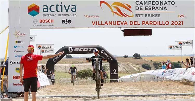 Rocío García entrando vencedora en la línea de meta de Villanueva del Pardillo.Rocío García entrando vencedora en la línea de meta de Villanueva del Pardillo.