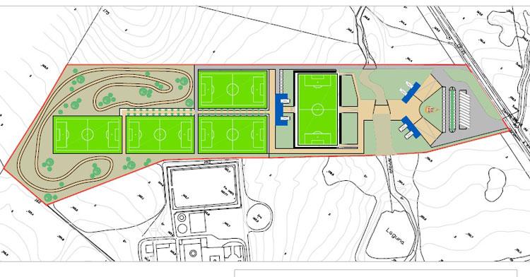 El plano de la Ciudad Deportiva en la que piensa el Córdoba CF
