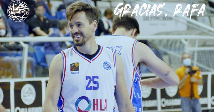 La imagen de agradecimiento del Alicante en el adiós de Rafa Huertas