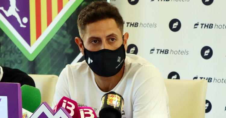 Rafa López durante la rueda de prensa. Foto: Palma Futsal