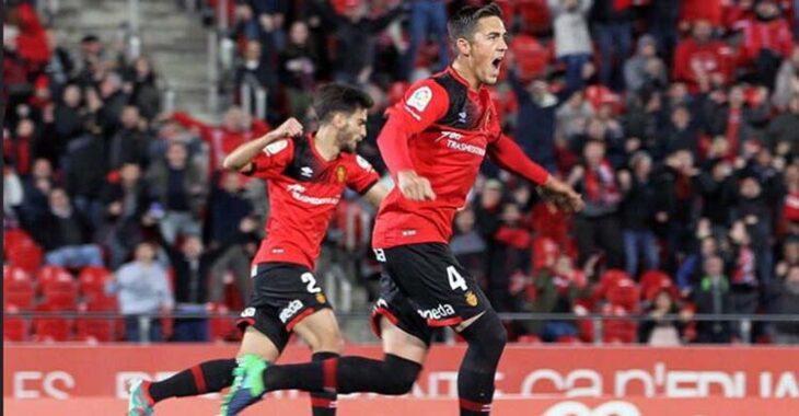 Antonio Raíllo celebrando un gol del Mallorca.