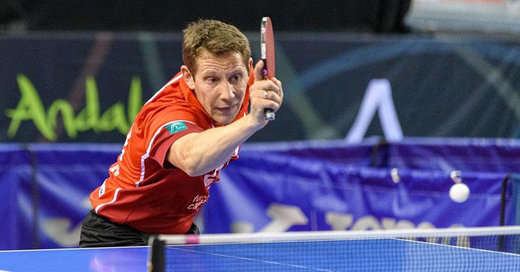 Robert Gardos, jugador austriaco del Cajasur Priego. Foto: RFETM