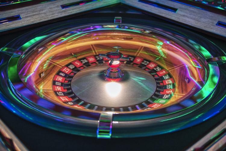 Ruleta en vivo de casino.