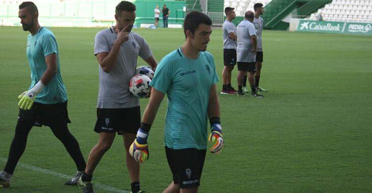 Edu Frías apura sus últimos entrenamientos con el Córdoba.