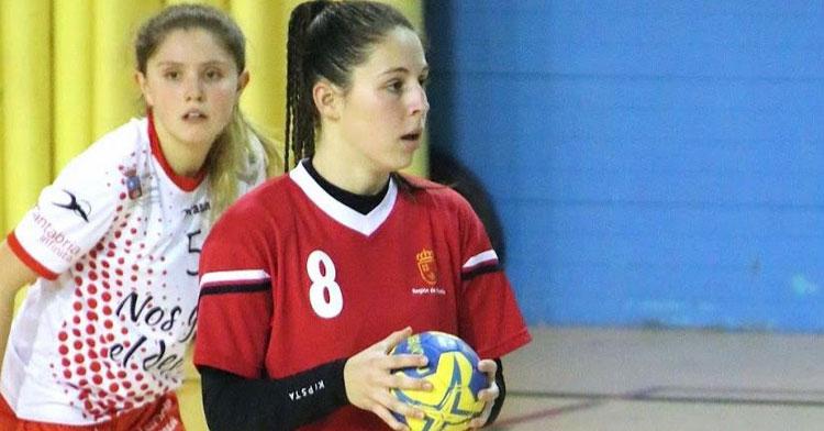 Irene García en un impasse del juego. Foto: Merino.