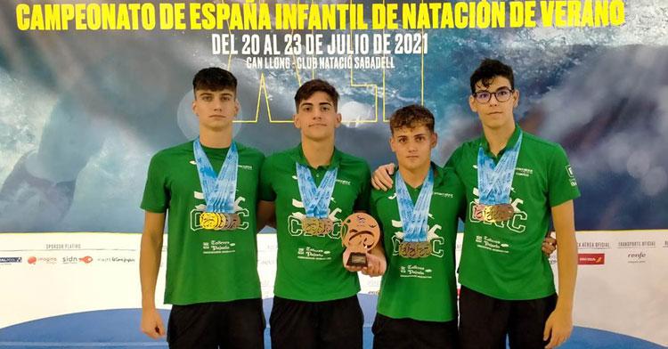 Los nadadores del Natación Córdoba, a tope. Foto: Club Natación Córdoba / Diario Córdoba