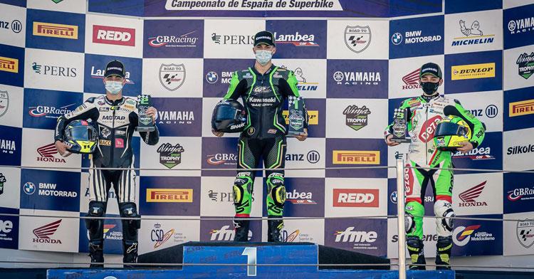 Las Balas Verdes tocaron podio en Cataluña. Foto: PixMotorr