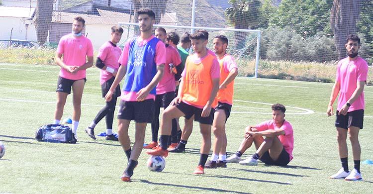 Ricardo Visus en uno de sus últimos entrenamientos con el filial del Córdoba.