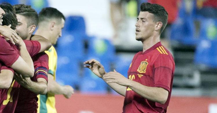 Antonio Blanco en el partido contra Lituania. Foto: Mundo Deportivo