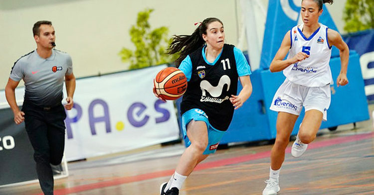 Carlota Menéndez en su etapa con el Movistar Estudiantes