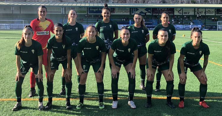 El once inicial del Córdoba Femenino en Mijas