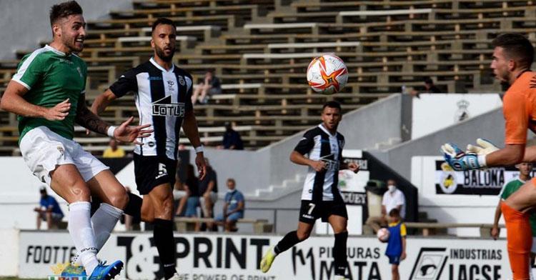 Fran Lara en el partido del Córdoba ante la Balona de la semana pasada. Foto: CCF