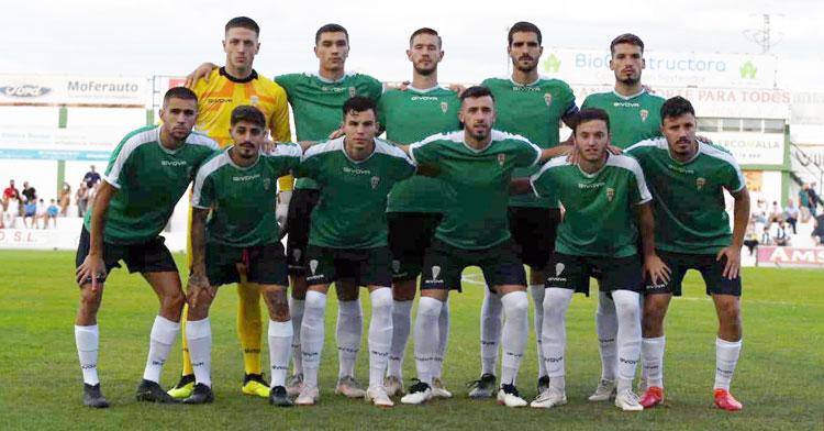 El once del Córdoba en Pozoblanco, donde jugó su último partido de preparación. Foto: CCF