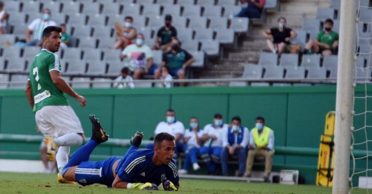 Wllly tras rematar en su primer gol ante el Marbella.