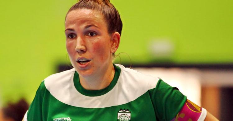 Inma Sojo en uno de los partidos de la Copa de Andalucía. Foto: RFAF