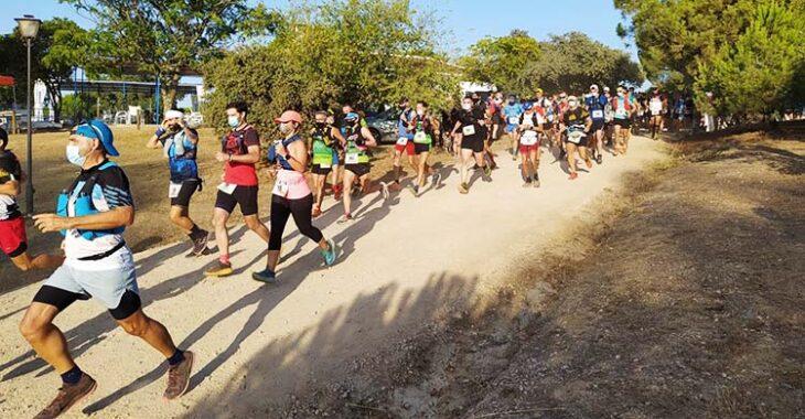 La nutrida salida de la Córdoba Trail.
