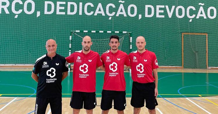 Las tres palas nacionales del Cajasur Priego junto a Luis Calvo en Portugal